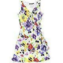 Ralph Lauren Women's Floral Print Asymmetric Flounce Dress, Multi, 16 - $98.99