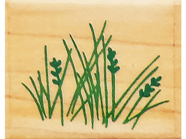 Rubber Stampede Wild Grass Wood Mounted Rubber Stamp #Z-310-A