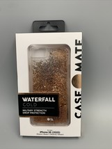 Case-Mate iPhone Waterfall Gold Glitter for iPhone SE 2020 8/7/6/6s Appl... - $11.39