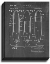 Surfboard Patent Print Chalkboard on Canvas - $39.95+