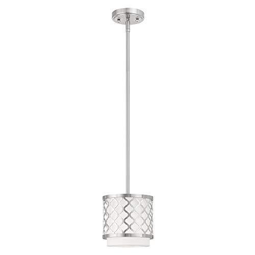 Livex Lighting 41101-91 Mini Pendant, Medium, Brushed Nickel - $131.10