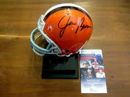 JIM BROWN CLEVELAND BROWNS HOF SIGNED AUTO MINI RIDDELL HELMET JSA BEAUTY - $247.49