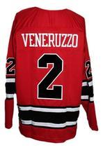 Custom Name # Los Angeles Sharks Retro Hockey Jersey Red Veneruzzo #2 Any Size image 2
