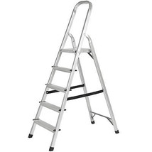 BCP 300lbs Aluminum Foldable 5 Step Non-slip Ladder Lightweight Kitchen ... - $72.90