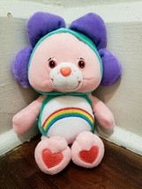 "Care Bears 8"" CHEER BEAR Plush Wearing a Flower Costume - $12.59"