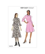 Vogue Patterns Misses' Petite Princess Seam Dress with Flounce Sleeves, ... - $15.83