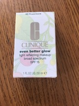 G Clinique Even Better Glow Light Reflecting Makeup SPF15 WN 76 Toasted Wheat M - $45.06