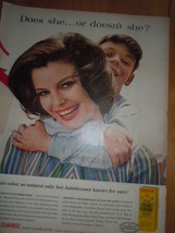 Miss Clairol Creme Formula Only Her Hairdresser Knows Print Magazine Ad 1960 - $11.99