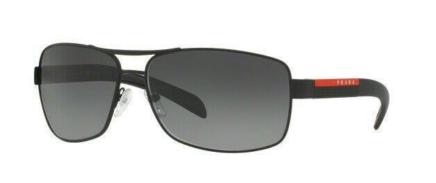 Prada Sport Sunglasses PS54IS DG05W1 Black Polarized Grey Lens 65mm