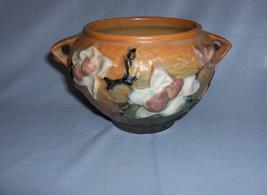Vintage Brown Roseville Pottery Magnolia 2 Handled  Bowl 665-3 C1943 - $74.25