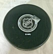 TAYLOR HALL / AUTOGRAPHED NEW JERSEY DEVILS LOGO NHL HOCKEY PUCK / COA image 3
