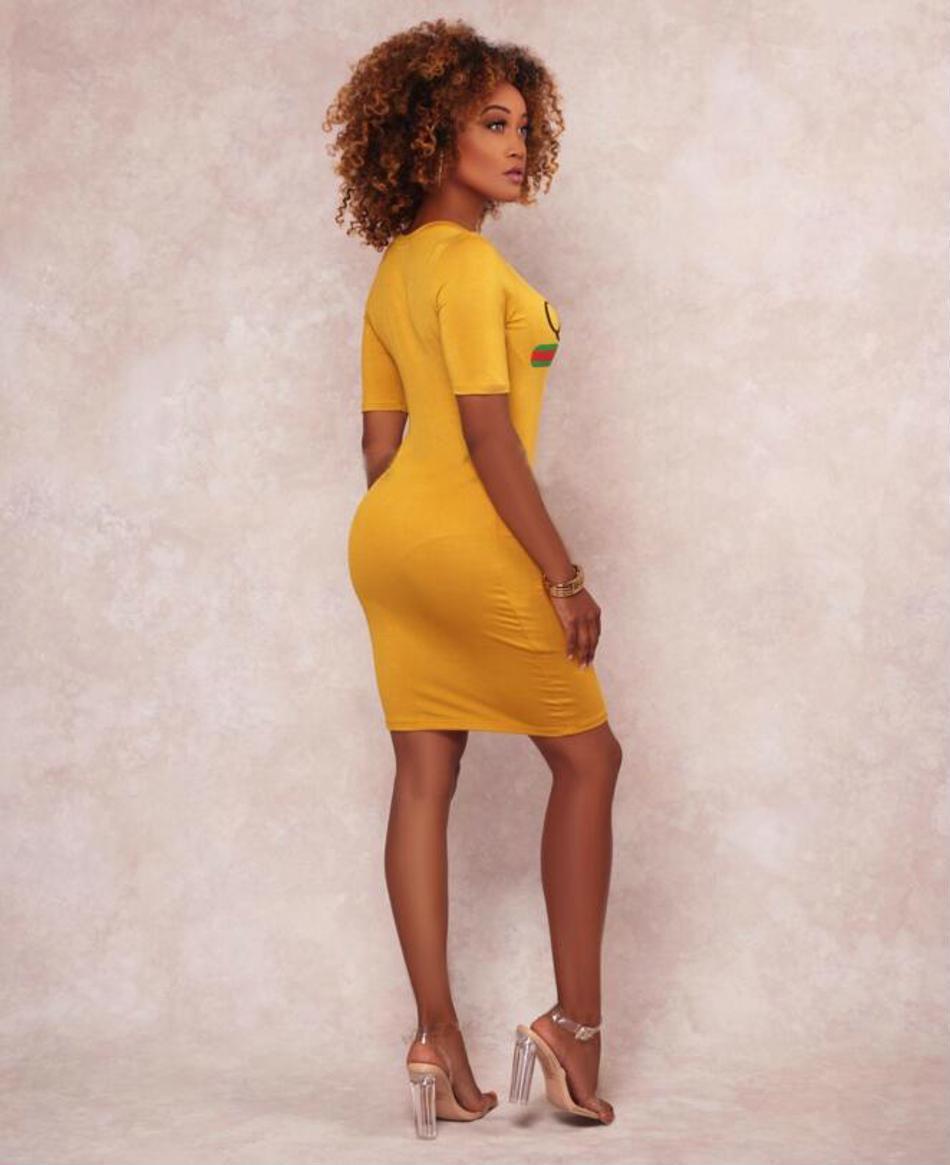 Short Sleeve Body Con Sexy Mini Dress O Neck Above Knee Plus Size Casual Attire