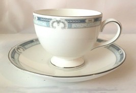 Wedgwood Masefield Bone China Blue, Gray, Platinum  Cup and Saucer - $9.89