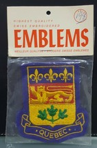 IMa) Quebec Canada Patch Badge Swiss Embroidered Crest Emblem Coat Shield - $5.93