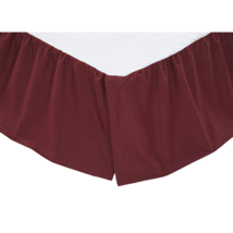 Solid Burgundy Bed Skirt - Queen and Twin Available - Vhc Brands