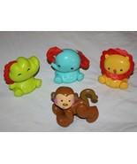 Fisher Price ROLY POLY PALS ELEPHANT LION CROC Sing & Go Choo Choo MONKE... - $15.45