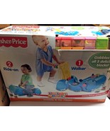 Fisher Price Gobble & Go Hippo Walker/ Ride-On w/4 Assorted Peek-a-Blocks - $243.10