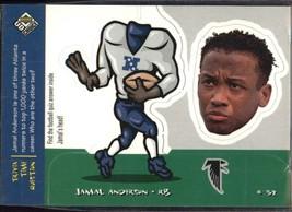 1998 Upper Deck UD Choice Mini Bobbing Head #M2 Jamal Anderson > Atlanta... - $0.99