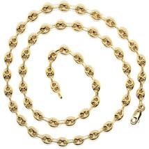 Cadena de Oro Amarillo 750 18K Largo 50 O 60 CM,Marina,Náuticos,Óvalos 5MM image 2