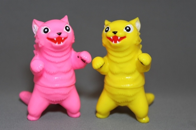 Max Toy Kaiju Negoras Set - Bright Pink and Yellow