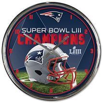 New England Patriots Super Bowl LIII Champions Chrome Clock - $39.19