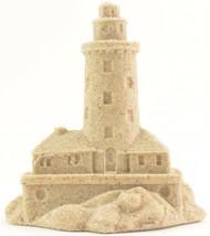 """Lighthouse Sand Castle Figurine Sculpture 814 4.25"""" T Beach Wedding Deco... - $14.84"""