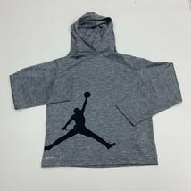 Jordan Hoodie Dri Fit Boys Size L Grey Long Sleeve Active - $18.95