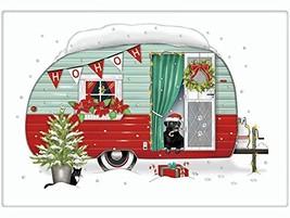 Christmas Vintage Camper Trailer 100% Cotton Flour Sack Dish Tea Towel -... - $12.05