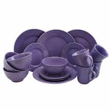 Elama Lilac Fields 16-Piece Stoneware Dinnerware Set - $61.37
