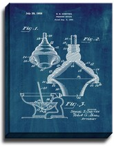 Toilet Plunger Patent Print Midnight Blue on Canvas - $39.95+