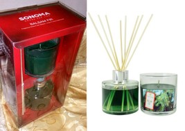 $30 Balsam Fir Sonoma Candle & Diffuser Gift Set Pine Tree Scent New - $22.74