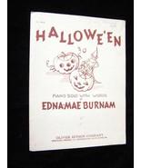Halloween Sheet Music Edna-mae Burnam 1940 Oliver Ditson Company plublisher - $13.99
