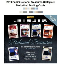 2019 Panini National Treasures Collegiate Basketball Box - $1,099.99