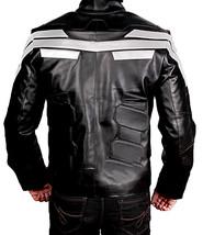 Chris Evans Avengers Endgame Captain America Black Leather Costume Jacket image 3