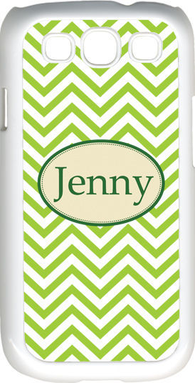 Primary image for Monogrammed Green Chevron Design Samsung Galaxy S3 Case Cover