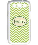 Monogrammed Green Chevron Design Samsung Galaxy S3 Case Cover - $15.95