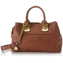 NEW GUESS Women Bag Handbag Shoulder Bag Cognac Vintage Pebble Pu Perfec... - $179.43