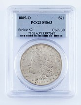 1885-O $1 Silver Morgan Dollar Graded by PCGS as MS-63! Gorgeous Morgan! - $79.19