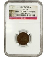 1857 Flying Eagle 1c NGC VF25 - Popular First Year Type Coin - Flying Ea... - $92.15