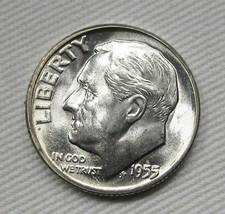 1955-P Roosevelt Dime GEM+ UNC AD836 - $17.35