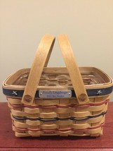Longaberger 2002 Bee Basket All American Patriotic Mini Market Basket + Protect! - $43.62