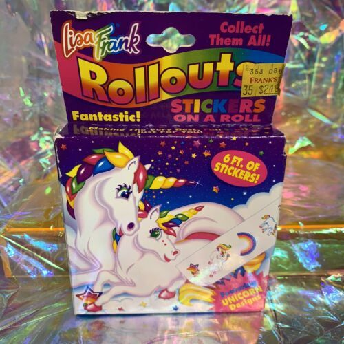 Vintage Lisa Frank Rollouts 90s Markie Unicorn YAY HTF Good Condition