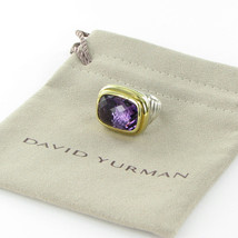 David Yurman Waverly Ring 18mm Amethyst 18K Yellow Gold Sterling Size 6 ... - $1,309.50