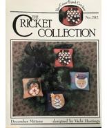 1 Vintage #202 Cricket Collection December Mittens Leaflet Pattern Vinta... - $6.99