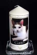 Cat Memorial Personalised  Photo candle gift - $19.79