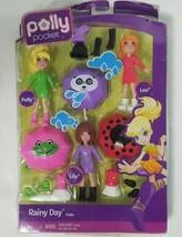 Mattel Polly Pocket Rainy Day Set Lila Lea 3 Dolls Clothes Shoes Accessories  - $29.09
