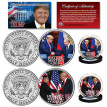 DONALD TRUMP Historic Meetings of 2018 JFK Kennedy 2-Coin Set   * MUST S... - $10.84