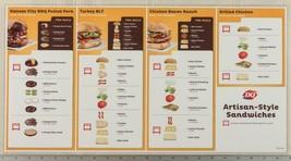Dairy Queen Poster Plastic Artisan Sandwich Instructions 11x22 dq2 - $14.84