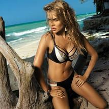 Womens Snake Print Bikini Set Push Up Padded Bra Swimsuit Swimwear Summer Beach image 1