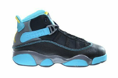aa85c162cb51b1 57. 57. 2013 NIKE AIR JORDAN 6 VI RINGS BLACK GREY GAMMA BLUE YELLOW 322992- 089 Size